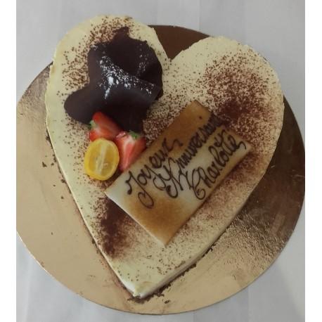 Coeur Gâteau d'anniversaire