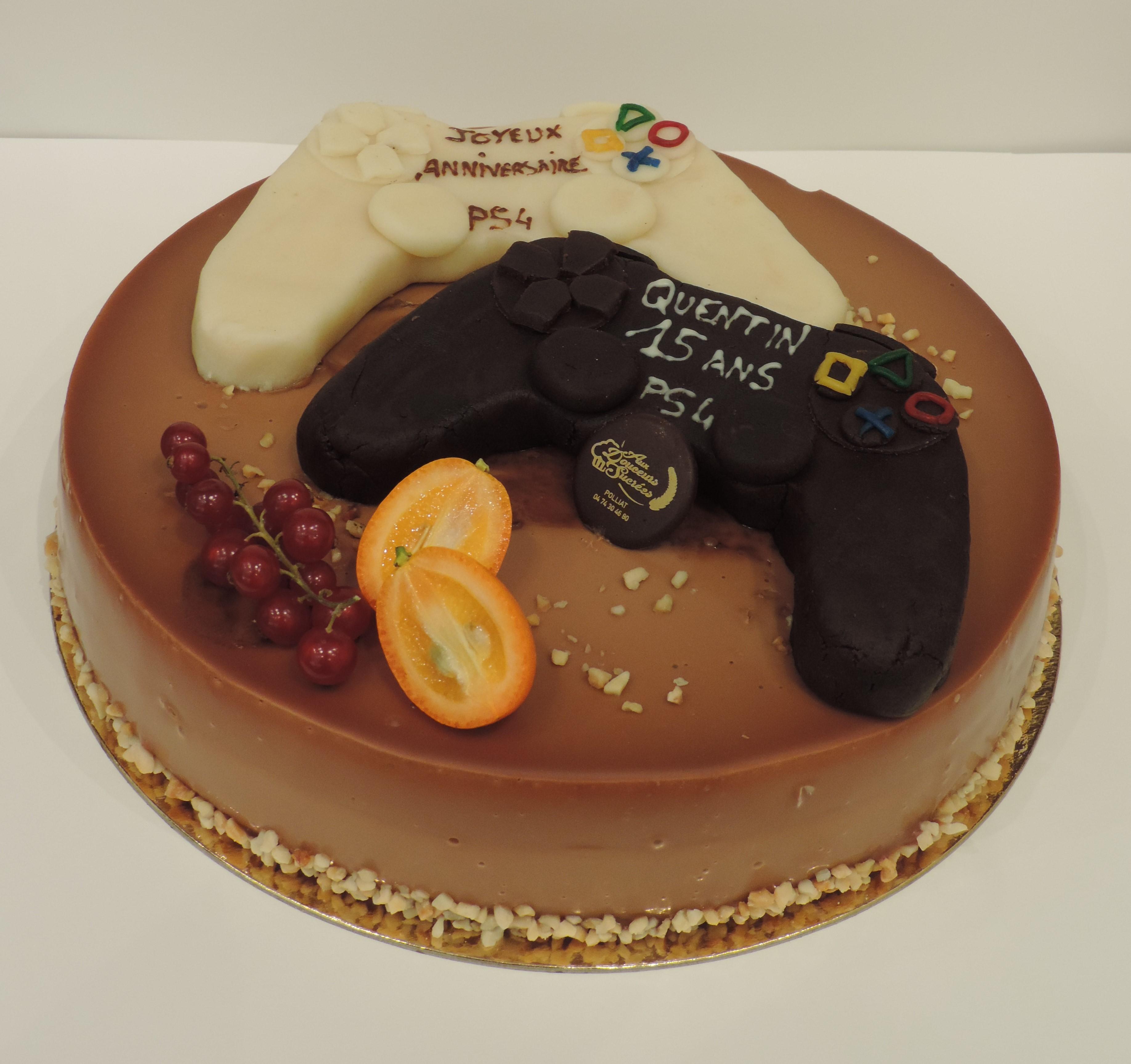 Console Gâteau Danniversaire Aux Douceurs Sucrées Polliat