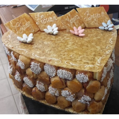 Coeur choux Gâteau de mariage